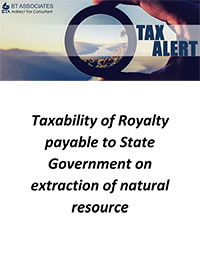 Taxability of Royalty payable to State Government on extraction of natural resource