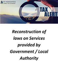Reconstruction of laws on Services provided by Government / Local Authority