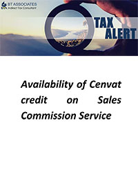 Availability of Cenvat credit on Commission Agent Service on sale of dutiable goods