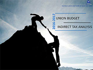 Union Budget 2016-17 – Indirect Tax Analysis
