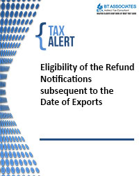 Eligibility of the Refund Notifications subsequent to the Date of Exports