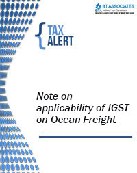 Note on applicability of IGST on Ocean Freight