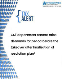 GST department cannot raise demands for period before the takeover after finalisation of resolution plan