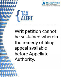 Writ petition cannot be sustained wherein the remedy of filing appeal available before Appellate Authority.
