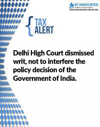 Delhi High Court dismissed writ, not to interfere the policy decision of the Government of India