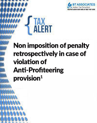 Non imposition of penalty retrospectively in case of violation of Anti-Profiteering provision1